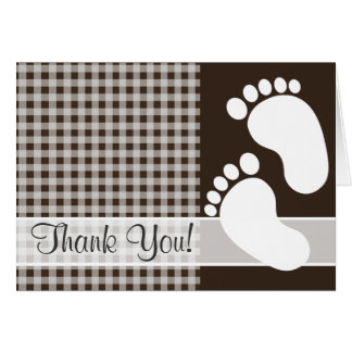 Bistre Brown Gingham; Checkered Card