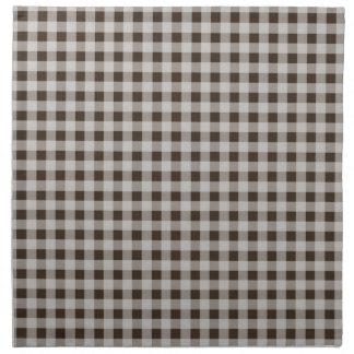 Bistre Brown Gingham; Checkered Napkin
