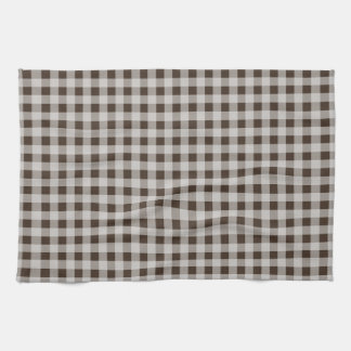 Bistre Brown Gingham; Checkered Towels