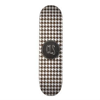 Bistre Brown Houndstooth; Vintage Chalkboard Skate Decks
