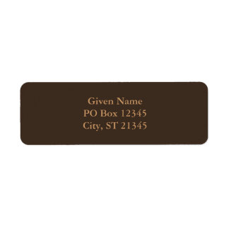 Bistre Brown Label