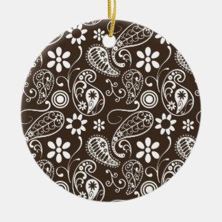 Bistre Brown Paisley Ornamentos Para Reyes Magos