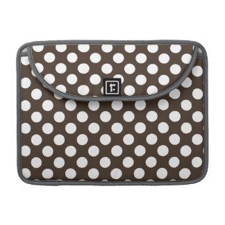 Bistre Brown Polka Dots Sleeve For MacBook Pro