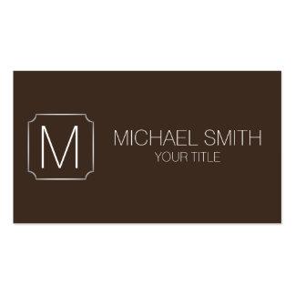 Bistre color background business card