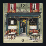 "Bistro Wall Clock<br><div class=""desc"">An original watercolor painting by Anne Ormsby of a French bistro adorns this fun wall clock.</div>"