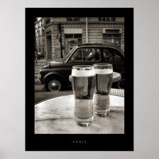 Bistros de París del vintage - poster