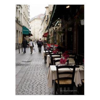 Bistros en París 2 Tarjeta Postal