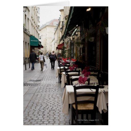 Bistros en París 2 Tarjeton