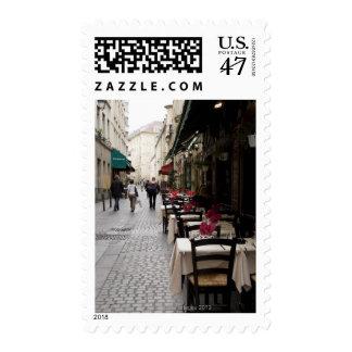 Bistros en París 2 Timbres Postales