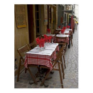 Bistros en París Tarjeta Postal
