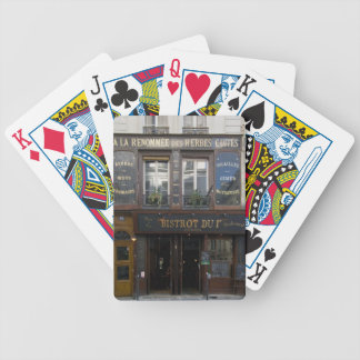 Bistrot Dui ~ Wine Bar ~ Restaurant ~ Paris France Bicycle Playing Cards