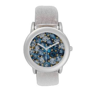 Bisutería azul de los diamantes artificiales de lo