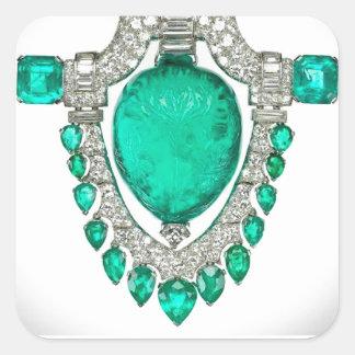 Bisutería del vintage de los diamantes de las pegatina cuadrada