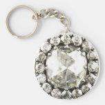 Bisutería del vintage del diamante artificial del  llaveros