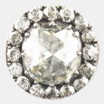 Bisutería del vintage del diamante artificial del etiquetas redondas