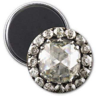 Bisutería enorme de los diamantes artificiales del imán redondo 5 cm