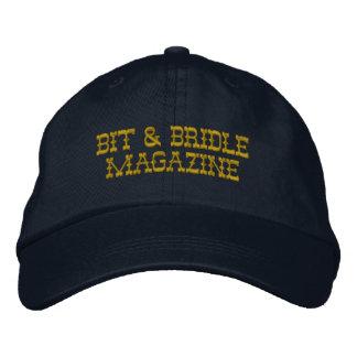 Bit & Bridle Hat - Dark Yellow Text, Regular Embroidered Hat