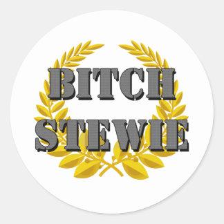 Bitch Stewie Classic Round Sticker