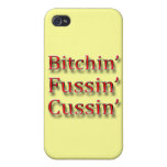 Bitchin fussin cussin red iPhone 4/4S covers