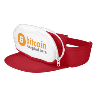 Bitcoin Accepted Here Cap-Sac Visor