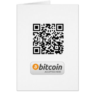 Bitcoin Accepted Here Card