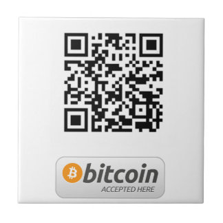 Bitcoin Accepted Here Ceramic Tile