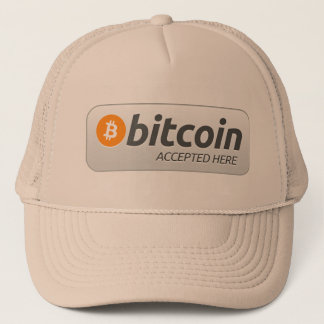 Bitcoin accepted here! trucker hat