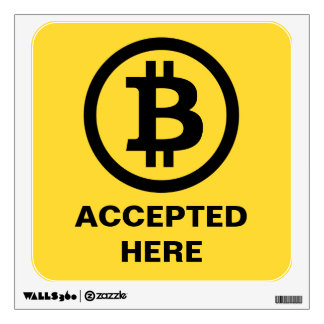Bitcoin Accepted Removable Wall Decal