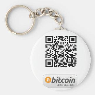 Bitcoin aceptó aquí llavero redondo tipo pin