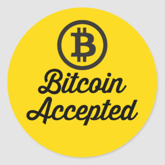 Bitcoin aceptó sistemas del pegatina