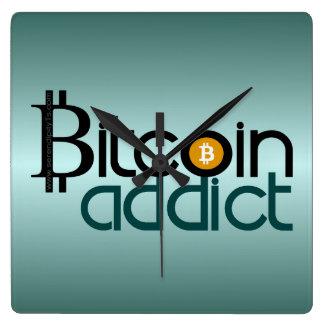 Bitcoin Addict Square Wall Clock