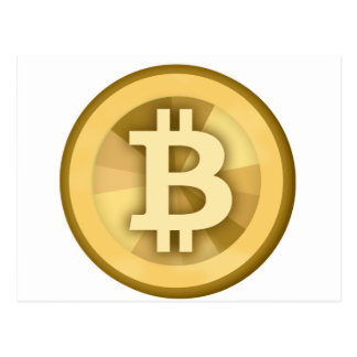 BITCOIN Anonymous MONEY DIGITAL Currency BTC Postcard