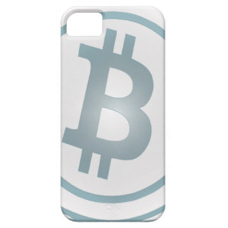 Bitcoin azul del efecto de la teja de Delft (no iPhone 5 Carcasa