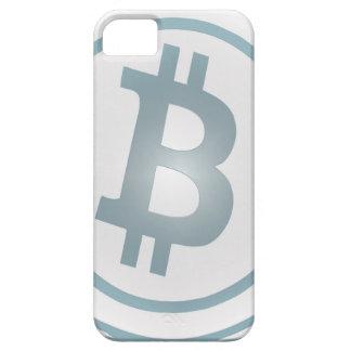 Bitcoin azul del efecto de la teja de Delft (no re iPhone 5 Carcasa