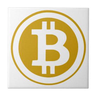 Bitcoin Azulejo Cuadrado Pequeño