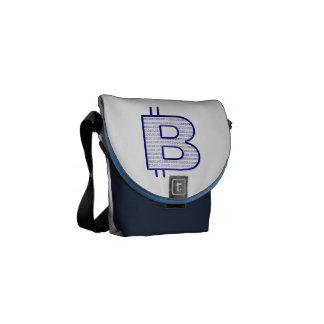 bitcoin blue courier bag