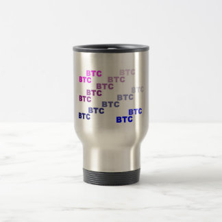bitcoin blue twisted travel mug