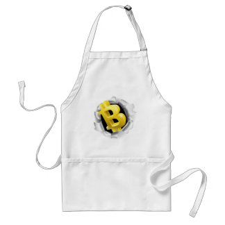Bitcoin Breaking Background Wall Concept Adult Apron
