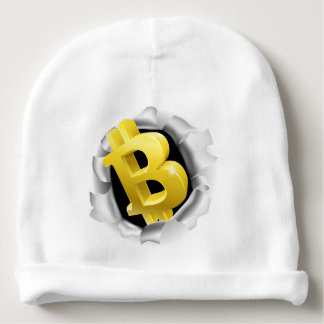 Bitcoin Breaking Background Wall Concept Baby Beanie