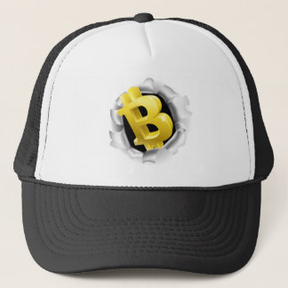 Bitcoin Breaking Background Wall Concept Trucker Hat
