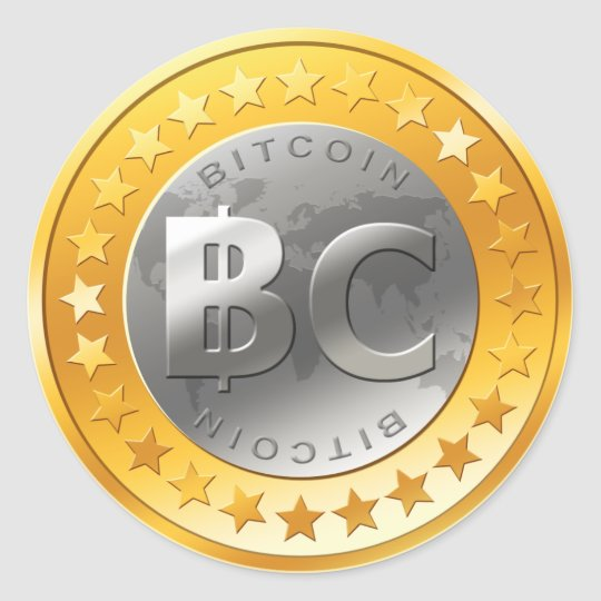 Bitcoin! BTC! Classic Round Sticker