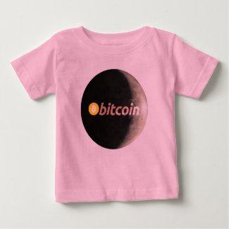 Bitcoin, BTC, moon Baby T-Shirt