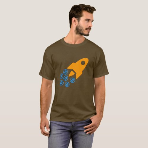 Bitcoin BTC Rocket T_shirt