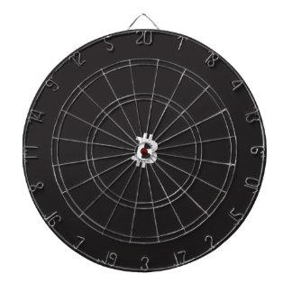 Bitcoin bullseye dartboard with darts