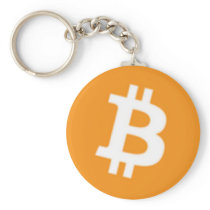 Bitcoin Button Keychain