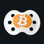 """Bitcoin Cart Pacifier<br><div class=""""desc"""">Classic Bitcoin logo with a cartooned finished and a texture that looks unique</div>"""
