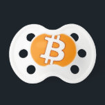 "Bitcoin Cart Pacifier<br><div class=""desc"">Classic Bitcoin logo with a cartooned finished and a texture that looks unique</div>"