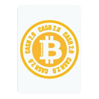 "Bitcoin Cash Version 2.0 5"" X 7"" Invitation Card"