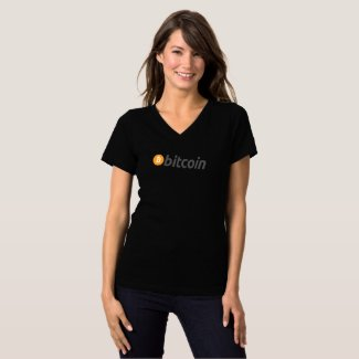 Bitcoin classic logo with text T-Shirt
