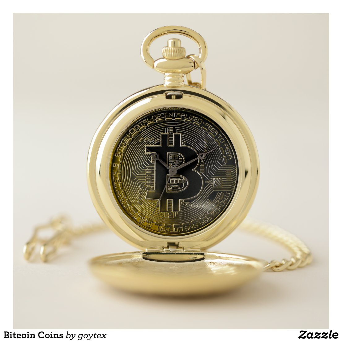 Bitcoin Coins Pocket Watch